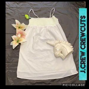 J.CREW CREWCUTS WHITE SUMMER SMOCK DRESS TASSEL